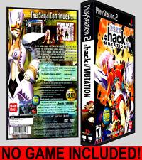 Dot Hack .Hack Mutation Part 2  - PS2 Reproduction Art DVD Case No Game