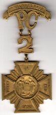Original pre WWI Knight Templar or Mason Philadelphia Cross Medal Masonic Order