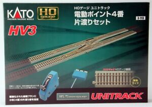 Kato HO Scale UniTrack ~ HV3 Interchange Crossover Left #4 Turnouts Set ~ 3-113