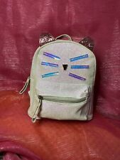 girls Small Cats Backpack . Color Glitter Pearl For Travel