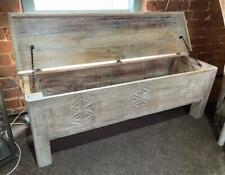 Blanket Box / Storage Trunk Ottoman Coffee Table Chest - Reclaimed Vintage Wood
