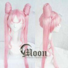 BLACK LADY Sailor Moon Sailor Chibi moon Small·Lady Pink Cosplay Party Wig Hair