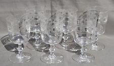 BACCARAT 6 VERRES A EAU en cristal gravé GRAVURE N°3458 H=13.5cm antique glasses