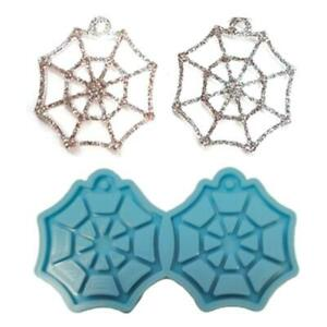 Crystal Epoxy Resin Mold Spiderweb DIY Earrings Dangler Casting Silicone Mould