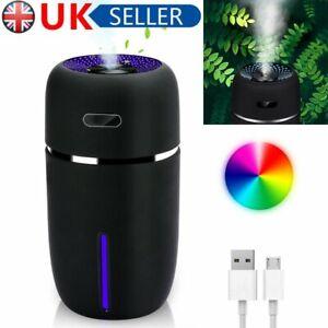 Mini Ultrasonic Aroma Diffuser USB Car LED Air Purifier Essential Oil Humidifier