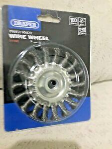 Draper 100mm Twist Knot Wire Wheel 12,500Rpm 71182