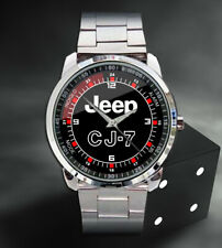 New Hot Jeep CJ7 Logo Mens Sport Metal Watch
