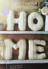 KNITTING PATTERN Home Cable Design HOME Letters Display Decor Chic PATTERN
