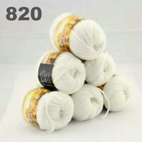 Sale New 6 Skeins x50gr Rainbows Multicolor Hand Knit Wool Yarn Wrap Scarves 20