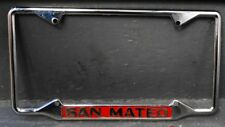 Vintage Chrome Vanity License Frame CITY San Mateo Calif