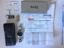 Marcello C. Nettuno 3 Herren Armbanduhr 2007.5.2 Massivarmband sehr gepflegt