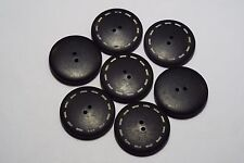 6pc 34mm Black With Stitch Effect Coat Knitwear Cardigan Kid Baby Button 3138