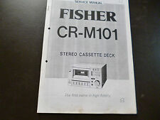 Service Manual Fisher CR-M101