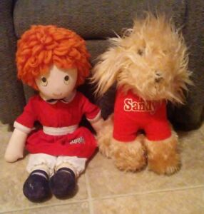 1082 Applause Little Orphan Annie and Sandy Plush by Knickerbocker