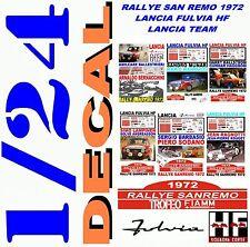 DECAL KIT 1/24 SET RALLYE SAN REMO 1972 LANCIA FULVIA HF LANCIA TEAM (01)
