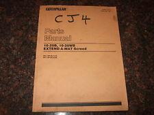 CAT CATERPILLAR 10-20B 10-20WB EXTEND-A-MAT SCREED PARTS BOOK MANUAL 3EL 3FL
