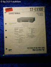 Sony Service Manual ST EX100 Tuner (#2647)