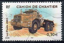TIMBRE FRANCE OBLITERE N° 3615 CAMION DE CHANTIER / Photo non contractuelle