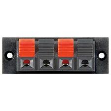 1 Paar Lautsprecher Anschluss - Lautsprecher-Terminal, 4 pol.Klemmleiste rot/sch