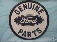 Ford Round Tin Metal Adverting Sign Auto Parts Car Truck