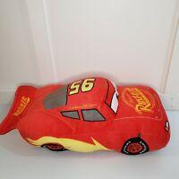 "Disney Cars Lightning McQueen Plush Stuffed Pillow Toy 15""x7"" No Tush Tag"