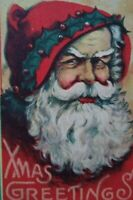 Santa Claus Vintage Christmas Postcard Bergman Original Grand Rapids Mich 1914