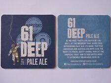 Marston's Brewery 61 Deep Pale Ale Beermat Coaster