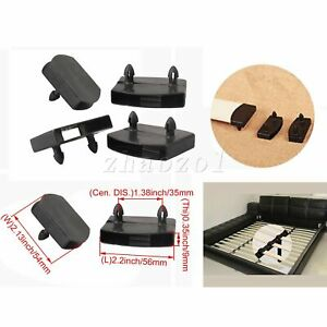 50 x Plastic Bracket Bed Support Double Head Black for Ribs Bed Connect Parts