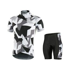 Summer Cycling Shirt Set Short Sleeve Cycling Jersey Bike Shorts Padded MTB Suit