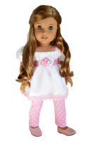 Pretty in Pink Leggings Set For American Girl Dolls 18 Inch Dolls