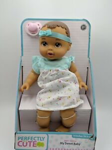 """Perfectly Cute My Sweet Baby Baby Girl Doll - Brunette, 14"""" Tall"""