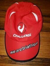 Challenge family Running Sweat Vac Hat Cap we are Triathlon Red Size adjustable