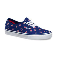 VANS x CHICAGO CUBS Authentic Shoes (NEW) Mens 9-11 BLUE MLB Baseball FREE SHIP
