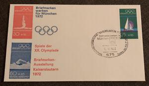 1972 Munich Olympics Stamp Exhibition FDC Kaiserslautern