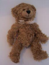 "Vtg 11"" Mohair Teddy Bear Museum Stratford-On-Avon Dated 1988 Ron Banafato Inc."