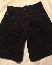 Levi's Corduroy Black Shorts Size 8 Slim 565 Wide Leg Nwt
