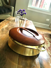 Jens Quistgaard Danish Design: Vintage Bross Pot w/ Teak Lid