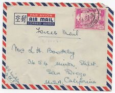 Burma 1949 airmail to USA Forces Mail from British serviceman RANGOON datestamp