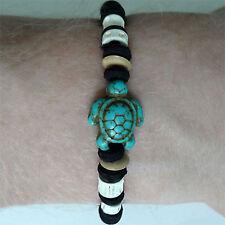 Turquoise Turtle Wristband Charm Friendship Bracelet Tortoise Bangle Mens Womens
