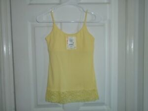 Energie Support Yellow Lace Trim Cami Size Medium New With Tags