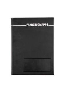 1x Fahrzeugmappe A5 schwarz Bordbuch Fahrermappe Dokumentenmappe Organizer KFZ