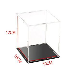 10x10x12cm Acrylic Display Box Transparent Dust-proof Display Case for Car Toy