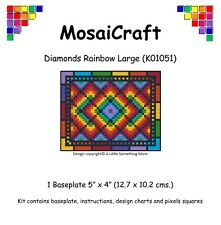 MosaiCraft Pixel Mosaic Art Kit 'Diamonds Rainbow Large' Pixelhobby