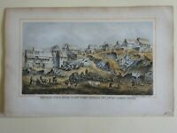 School House New York City Street Scene Pigs Goats Chickens 1863 Valentine print