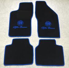 Autoteppiche Fußmatten für Alfa Romeo 90 schwarz blau Logo 4teilig Neuware