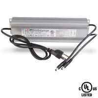 UL LISTED LED Light Power Supply driver 24V 10.4A 250W waterproof with 2 DC plug