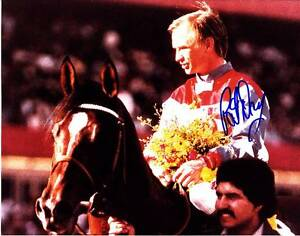 PAT DAY SIGNED AUTOGRAPH 8X10 PHOTO PICTURE IMAGE JOCKEY HORSE RACING HOF #2