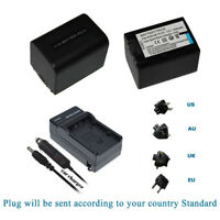 1600mAH NP-FV70 Battery /Charger  for SONY HandyCam DCR-SX85 DCR-SR88 HDR-CX760