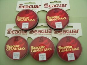 Seaguar Grand Max 100% Fluorocarbon For Leaders And Tippets 30 Yards.
