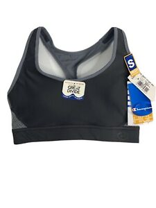 Champion The Great Divide Sports Bra Small Black CB7917 Athletic Womens Support
